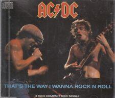 "AC/DC That's The Way I Wanna Rock N Roll 3"" CD Single 4 Track FASTPOST"
