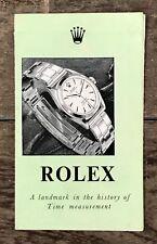 ROLEX & TUDOR ANNI 1950 BROCHURE OYSTER PERPETUA Bombay oro vintage libretto OEM