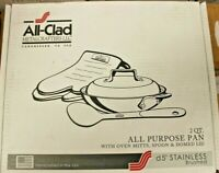 All-Clad D5 All Purpose 2 Quart Pan and Lid
