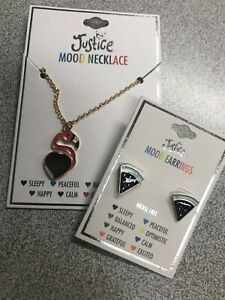 Justice Childrens Jewelry Necklace And Earrings