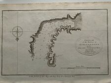 1784 CHART OF ENGLISH BAY UNALASKA ALASKA ORIGINAL ANTIQUE MAP COOK'S VOYAGES