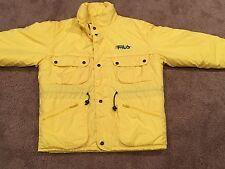 Vintage FILA Magic Line Yellow 90's SKI Snowboard Nylon Puffy RARE Jacket Coat L