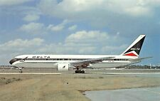 DELTA AIR LINES 767-332 seats 24 first class 230 coach  Airplane Postcard