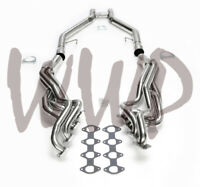 Stainless Long Tube Exhaust Manifold Header & H-Pipe 05-10 Ford Mustang GT 4.6L