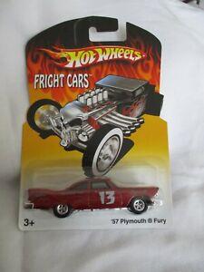 Hot Wheels 2007 Halloween Fright Cars '57 Plymouth Fury Chrome Wheels Mint/Card