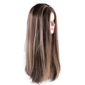 Fashion Ombre Brown Synthetic Hair Wigs Brazilian Full Lace Remy Lace Front Wig