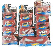Hot Wheels Star Wars Starships and Vehicles Die-Cast Lot of 12