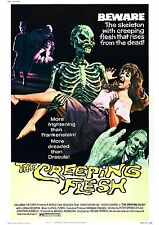 The Creeping Flesh - Christopher Lee - Peter Cushing - A4 Laminated Mini Poster