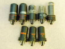 (8) Vintage Vacuum Tubes RCA 6SJ7, National 6K6GT, GE GTB, Sylvania ABB