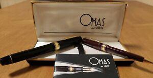 OMAS Paragon Extra Set Fountain Pen & Ballpoint Old Style - EF 18K  (NOS)
