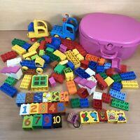 Genuine Lego Duplo Bundle 1.6kg vehicles, printed bricks, carry case job lot
