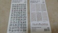 6 sheets Korean drawing deco stickers  adhesive journal Diary scrapbook