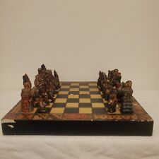 Foldable Handmade Chess Set Indigenous