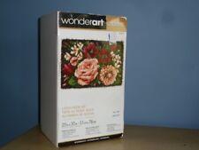 "Wonder Art Classic Latch Hook Kit 20"" X 30"" Floral D'Vine Mint Original Box"
