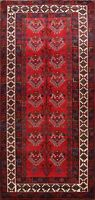 5'x10' Vintage Geometric Nomad Abadeh Area Rug Hand-knotted Oriental Wool Carpet