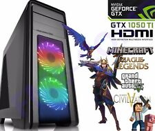 ULTRA FAST Gaming PC Quad Core i5 GTX 1050 Ti 16GB Windows 10 Desktop Computer
