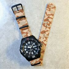 Casio Men's Dive Watch with Desert Camo Nato Strap, The Sand Diver II (MRW-200H)