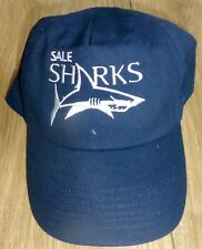 SALE SHARKS RUGBY-Baseball Cap-Adults One Size-Embroidered-NAVY BLUE Superb NEW