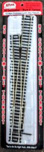Atlas #283 is now #393 - #6 Left Hand Mark V Turnout Track - HO Code 100 Rails