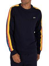 Lacoste Men's Sport Stripe Sweatshirt, Blue