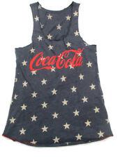 Coca-Cola Stars Racer Tank Top Ladies Size 2X-Large 2XL Blue Patriotic American