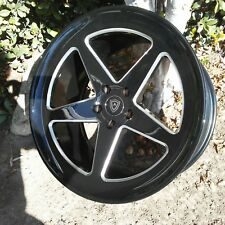 20 inch staggered Marquee #9535 5x115 Blackj Wheels fits Chrysler 300, Charger