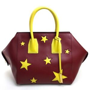 STELLA McCARTNEY Star Hand bag Bordeaux/Yellow Synthetic leather