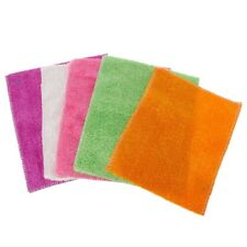 5Pcs Super Soft Fiber Wiping Dishcloth Washing Towel Non-dropping Cleaning Cloth