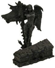 Death Angel Dark Fallen Female Fantasy Magic Gothic Evil Fairy Coffin Art Statue