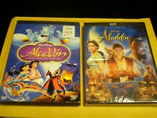 (2) Disney Aladdin DVD Lot: Original + Will Smith Version  (1) Brand NEW