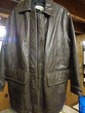 Eddie Bauer Genuine Brown Women's Leather Coat S/P
