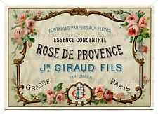 Furniture Decal Image Transfer Vintage Antique French Upcycle Rose Label Sign
