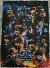Blizzcon 2017 Starcraft 2 World Championship Series Signed Mini Poster