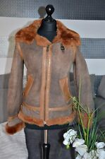 Blauer Jacke aus Leder NP990€ Gr. S - Rostbraun