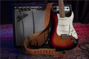 Fender 60's / 70's Retro Style Brown Suede Fringe Strap, Special Offer RRP £89!!