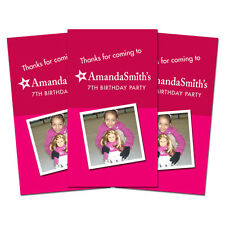 10 American Girl Doll Birthday Party Personalized Thank You Tags with Photo