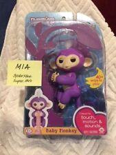 Authentic WowWee Fingerlings MIA Purple Baby Monkey - In Hand in Ohio - New MIP