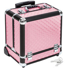 Maleta para cosméticos Maletín de maquillaje estetica Trolley tocador rosa nuevo