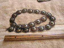 Vintage  Old Pawn Turquoise Silver Mexico Concho Belt