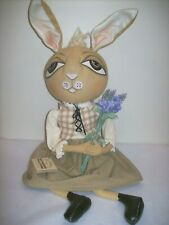 "Gallerie II ""Wilma"" Rabbit- Gathered Traditions Soft Sculpture by Joe Spencer"