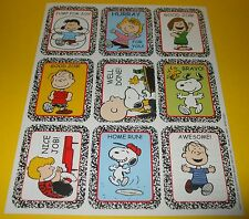 2010 PEANUTS Charles Schulz Composition Notebook Stickers Sheet~SNOOPY Cartoon