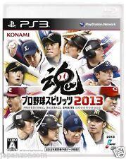 Used PS3 Baseball Spirits 2013 SONY PLAYSTATION 3 JAPAN JAPANESE JAPONAIS IMPORT