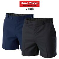Mens Hard Yakka Permanent Press Shorts Corporate Supercrease Work Comfy Y05594