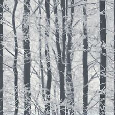 Arthouse Frosted Wood Glitter Wallpaper Silver 670200