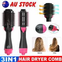 One Step Hair Dryer Comb and Volumizer Pro Brush Straightener Curler Styler AU