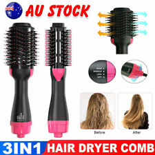 One Step Hair Dryer Comb and Volumizer Pro Brush Straightener Curler Styler AU
