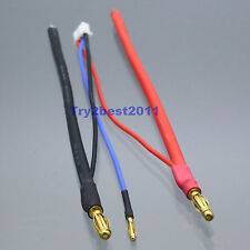 4mm Bullet Banana to Bare Leads LiPo Battery Lead Wire & 2mm JST-XH Balance Plug