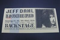 Altes Konzertticket - Jeff Dahl / Jon Spencer - Backstage München - 21.2.1993