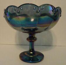 Carnival Glass Pedestal Candy Dish