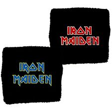 More details for iron maiden - official licensed sweatband/wristband - various designs